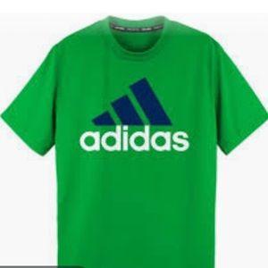 ADIDAS Neon Top Lime Green Short Sleeve shirt 8-10